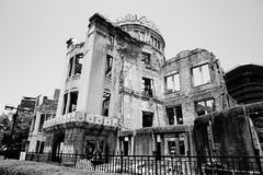 Ruins of the grand Hiroshima dome as a symbol and memorial of Hiroshima's atomic disaster during the second World War. In the Hiroshima Peace Memorial Park Stock Images