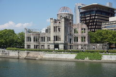 Ruins of the grand Hiroshima dome as a symbol and memorial of Hiroshima's atomic disaster during the second World War Royalty Free Stock Photography