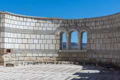 Ruins of The Great Basilica - largest Christian cathedral in medieval Europe near The capital city of the First Bulgarian Empire. Pliska, Bulgaria stock photography