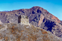 Ruins of Great China wall watch tower Royalty Free Stock Photography