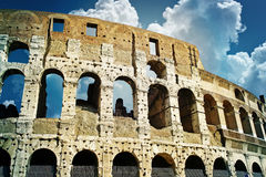 Ruins of great stadium Colosseum royalty free stock photos