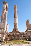 Ruins of the Greco-Roman city of Gera at Jordan Stock Photography