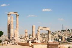 Ruins of the Greco-Roman city of Gera at Jordan Royalty Free Stock Photography