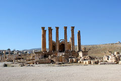 Ruins of Greco-Roman city Gerasa. Jordan. Ruins of the Greco-Roman city of Gerasa. Ancient Jerash, in Jordan Stock Photos