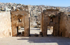 Ruins of Greco-Roman city Gerasa. Jordan. Ruins of the Greco-Roman city of Gerasa. Ancient Jerash, in Jordan Stock Photography
