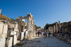 Ruins of greek city Ephesus Stock Images