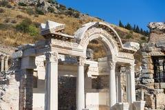 Ruins of greek city Ephesus. In Turkey Stock Image