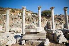 Ruins of greek city Ephesus. In Turkey Royalty Free Stock Photos