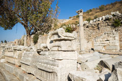 Ruins of greek city Ephesus Royalty Free Stock Images