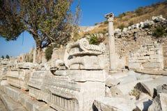 Ruins of greek city Ephesus. In Turkey Royalty Free Stock Images