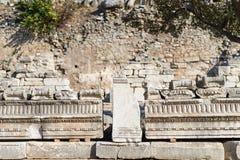 Ruins of greek city Ephesus. In Turkey Royalty Free Stock Image