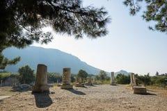 Ruins of greek city Ephesus. In Turkey Stock Photos