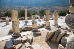 Ruins of greek city Ephesus. In Turkey Royalty Free Stock Photography