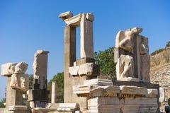 Ruins of greek city Ephesus. In Turkey Stock Photo