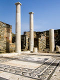 Ruins of a Greek courtyard on Delos Royalty Free Stock Photos