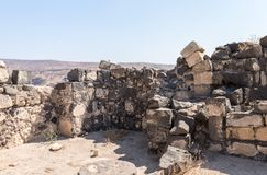 The ruins of the Greek - Roman city of the 3rd century BC - the 8th century AD Hippus - Susita on the Golan Heights near the Sea o. F Galilee - Kineret, Israel royalty free stock photography