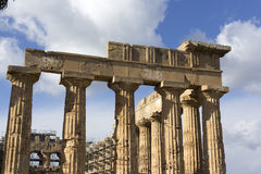 Ruins of greek temple Royalty Free Stock Image