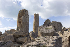 Ruins of greek temple Royalty Free Stock Photos