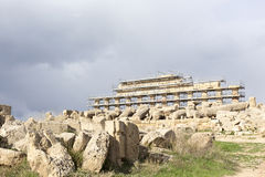 Ruins of greek temple Stock Photos