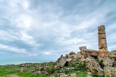 Ruins of greek temple, Selinunte, Sicily, Italy Stock Images