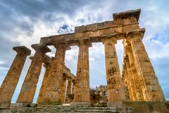 Ruins of greek temple, Selinunte, Sicily, Italy Royalty Free Stock Photo