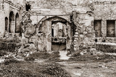 Ruins of Grungy Mansion Royalty Free Stock Photo