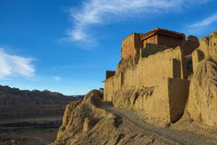 Ruins of guge dynasty in Tibet Stock Photography