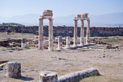 Ruins of the gymnasium in the ancient city of Hierapolis. Turkey Stock Images