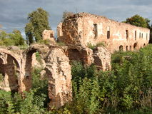 Ruins of Halshany Castle (Belarus) Stock Photo