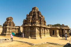 The Ruins of Hampi. The ruins in the historical places of Hampi Stock Photos