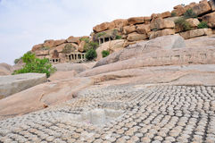 Ruins in Hampi (India) Stock Photos