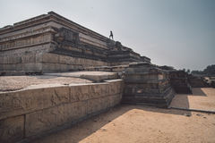 Ruins of Hampi royalty free stock photo