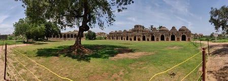Ruins of Hampi a medieval city. The elephant stables at Hampi the capital of Vijaynagar Empire royalty free stock image