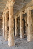 Ruins of Hampi, Pillars inside Vittal Temple Royalty Free Stock Images