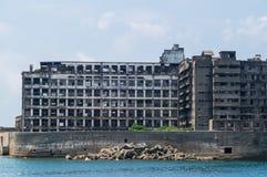 Ruins of Hashima Elementary/Intermediate School in Gunkanjima (Hashima) Royalty Free Stock Image