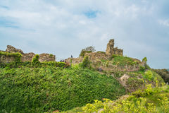 Ruins of Hastings castle, East Sussex, UK. HASTINGS, UK - MAY 13 2017: Ruins of Hastings castle in East Sussex, UK. The Castle ordered to be built by William the Stock Images