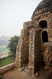 Ruins of Hauz Khas. The ruins of the structure at Hauz Khas village. These were old mughal architecture buildings that are currently a tourist destination Royalty Free Stock Photos