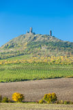 Ruins of Hazmburk Castle. In Ceske stredohori, Czech Republic Stock Images