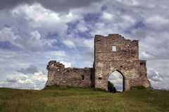 Ruins HDR. Ruins of castle in city Kremenets, Urkaine (HDR Stock Images