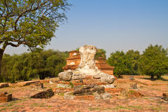 Ruins of headless buddha statue Royalty Free Stock Image