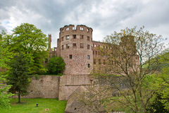 Ruins of Heidelberg Castle Under Cloudy Sky Royalty Free Stock Image