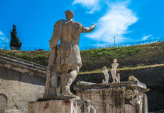 Ruins of Herculaneum, ancient roman town destroyed by Vesuvius Royalty Free Stock Photography