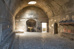 The ruins of Herculaneum excavation Royalty Free Stock Image