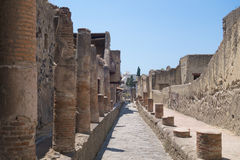 The ruins of Herculaneum excavation Stock Photo