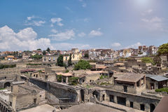 The ruins of Herculaneum excavation Royalty Free Stock Photography