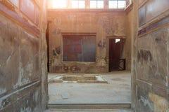 The ruins of Herculaneum excavation Stock Photo