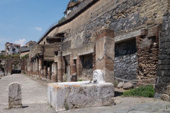 The ruins of Herculaneum excavation Stock Image