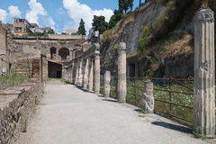 The ruins of Herculaneum excavation Royalty Free Stock Images