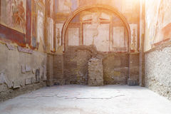 The ruins of Herculaneum excavation Royalty Free Stock Photo