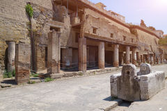 The ruins of Herculaneum excavation Stock Images